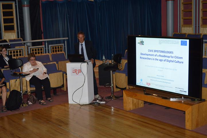 Mauro-Fazio-presenting-CIVIC-EPISTEMOLOGIES-@ELPUB2015_Malta01092015_LOW